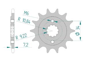 Kit trasmissione Acciaio HONDA XR 250 TORNADO 2008-2017 Rinforzato di più Xs-ring