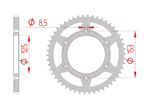 Kit trasmissione Acciaio HONDA CRF 250 RX 2019 Rinforzato di più Xs-ring