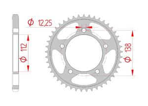 Kit trasmissione Acciaio HONDA CB 650 R 2019 Iper Rinforzata Xs-ring