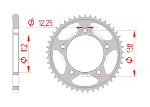 Kit trasmissione Acciaio HONDA CB 650 R 2019 Rinforzata Xs-ring