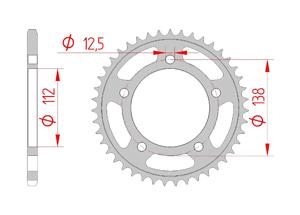 Kit trasmissione Acciaio HONDA NC 750 VULTUS 2015-2016 Super Rinforzata Xs-ring