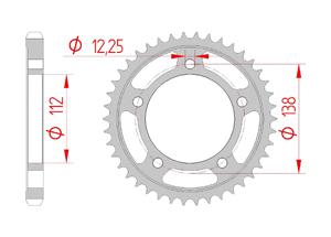Kit trasmissione Acciaio HONDA CB 1100 RS 2017-2018 Iper Rinforzata Xs-ring