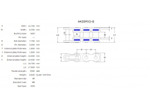 Kit trasmissione ALU HONDA CR 80 R P.R 87-95