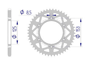 Kit trasmissione Alluminio HONDA CRF 250 R 2018 MX rinforzato
