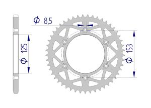 Kit trasmissione Alluminio HONDA CRF 250 R 2019 Standard Xs-ring