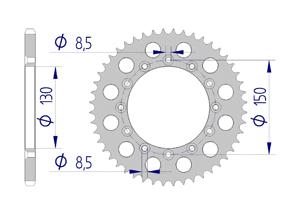 Kit trasmissione Alluminio HONDA XR 500 R C 1982 Extra rinforzato Xs-ring