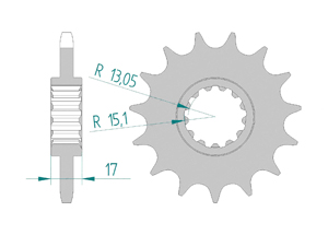 Kit trasmissione ALU HONDA CBR 650 R 2019 Rinforzata Xs-ring