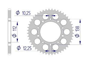 Kit trasmissione ALU HONDA CBR 650 R 2019 RACING Iper Rinforzata Xs-ring