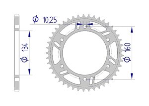 Kit trasmissione Alluminio RAC HONDA CBR1000 RA/RR 17-18 #520 Iper Rinforzata Xs-ring