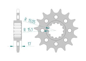 Kit trasmissione Alluminio RAC HONDA CBR1000 RA/RR 17-18 #520