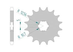 Kit trasmissione Acciaio YAMAHA XS 250 US
