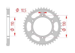 Kit trasmissione Acciaio YAMAHA TRACER 700 2016-2017 Iper Rinforzata Xs-ring
