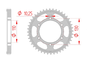Kit trasmissione Acciaio YAMAHA XJR 1300 C 2015-2016