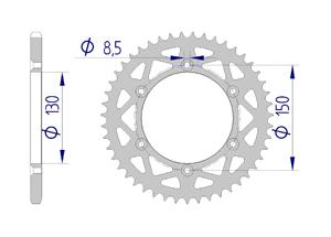 Kit trasmissione Alluminio YAMAHA YZ 250 X / WR 2016-2017 Standard Xs-ring