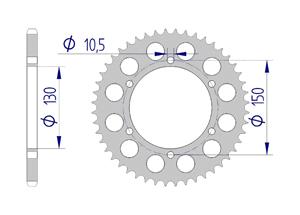 Kit trasmissione Alluminio YAMAHA FZS 600 FAZER #520 1998-2002 Iper Rinforzata Xs-ring