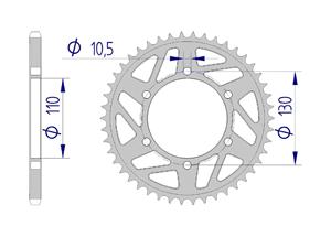 Kit trasmissione Alluminio RAC YAMAHA MT-07 #520 2014-2018