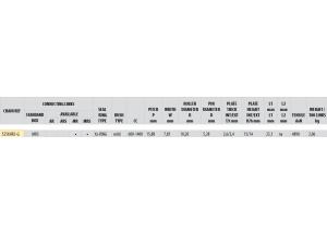 Kit trasmissione Alluminio YAMAHA MT-10 2016-2018