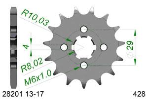 Kit trasmissione Acciaio SUZUKI GSX-R 125 Rinforzata