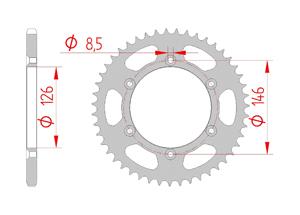Kit trasmissione Acciaio SUZUKI RMZ 250 2019 Standard Xs-ring