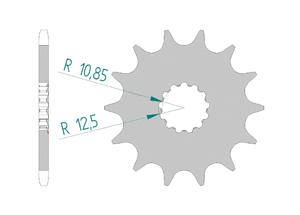 Kit trasmissione Acciaio SUZUKI SV 650 ABS 2016-2018 Extra rinforzato Xs-ring