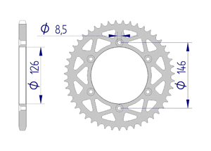 Kit trasmissione Alluminio SUZUKI RM-Z 450 2015-2019 Super Rinforzata Xs-ring