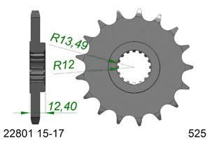 Kit trasmissione Alluminio SUZUKI GSXR 1000 2017-2018