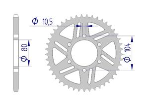 Kit trasmissione ALU KAWASAKI ZX-6R/636 #520 RACING 98-04