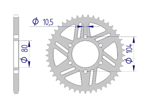 Kit trasmissione ALU RACE KAWASAKI ZX6-R 2019 Extra rinforzato Xs-ring