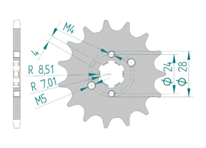 Kit trasmissione Acciaio APRILIA 50 SX 2018-2019