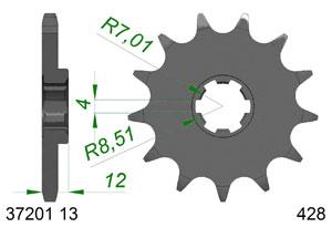 Kit trasmissione Acciaio APR RS4 2011-2013 OLD DRIVEN SHAFT Rinforzata