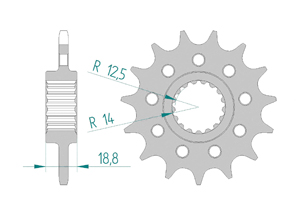 Kit trasmissione Acciaio RACE APR RSV4 1000 APRC R 2010-2014