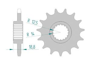 Kit trasmissione Acciaio APRILIA TUONO 1100 RR-FACT 15-16
