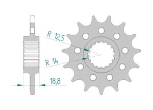 Kit trasmissione ALU APRILIA RSV4 1000 RR - RF 15-16 #520