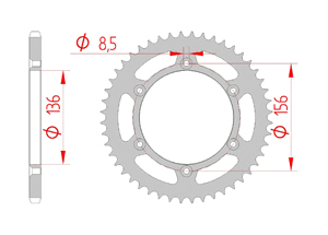 Kit trasmissione Acciaio SHERCO SEF 300 I 2013-2015 Standard Xs-ring