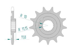 Kit trasmissione Acciaio SHERCO SEF 300 I 2013-2015 Super Rinforzata Xs-ring