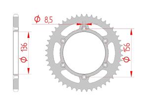 Kit trasmissione Acciaio SHERCO SE 450 FI 2015-2016