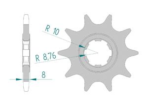 Kit trasmissione Alluminio SHERCO 250 2.5 2016 Standard