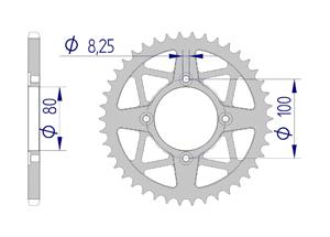Kit trasmissione Alluminio SHERCO 290 2.9 MX Racing