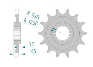 Kit trasmissione Alluminio SHERCO SE 450 FI 2015-2018