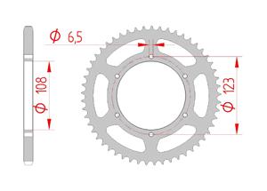 Kit trasmissione Acciaio DERBI 50 SM XTREME-RACING 2018-2019 Standard