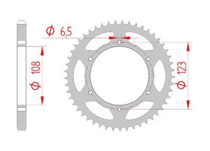 Kit trasmissione Acciaio DERBI DRD 125 SM 2014-2015 ALLOY WH Rinforzata Xs-ring