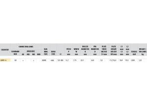 Kit trasmissione Acciaio DERBI DRD 125 SM 2014-2015 ALLOY WH