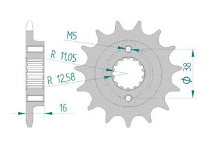 Kit trasmissione Acciaio DUCATI 803 DESERT SLED 2017-2018 Iper Rinforzata Xs-ring