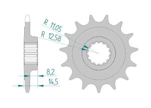 Kit trasmissione Acciaio DUCATI 1100 SCRAMBLER 2018 Iper Rinforzata Xs-ring
