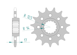 Kit trasmissione Acciaio DUC 1100 PAN V4 S 2018 #520 PCD4 Iper Rinforzata Xs-ring