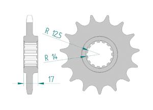 Kit trasmissione Acciaio DUC 1199 PANIGALE R 13-15 FOR PCD4