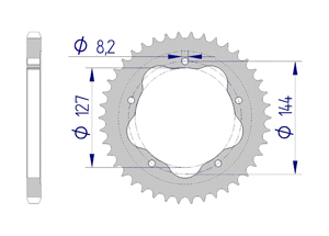 Kit trasmissione ALU DUC 796 MONSTER 10-14 FOR PCD2