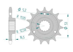 Kit trasmissione Alluminio DUC 848 STREETFIGHTER 12-15 FOR PCD2 Iper Rinforzata Xs-ring