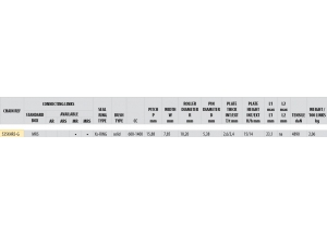 Kit trasmissione ALU DUC 939 HYPERMOTARD 2016 PCD2