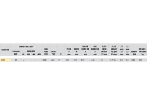 Kit trasmissione Alluminio FANTIC 125 TRIAL TX250 Standard